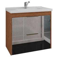 Gabinete Suspenso para Banheiro Bromélia 56x59cm Amêndoa - MGM