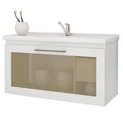 Gabinete Suspenso para Banheiro Hibisco 44x79,3cm Branco - MGM