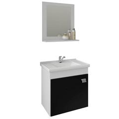 Gabinete Suspenso para Banheiro Íris 46x44,8cm Branco E Preto