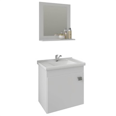 Gabinete Suspenso para Banheiro Íris 46x44,8cm Branco