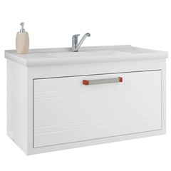 Gabinete Suspenso para Banheiro Jade 44x79,3cm Branco - MGM