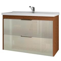Gabinete Suspenso para Banheiro Lavanda 56x79,3cm Amêndoa E Off White - MGM