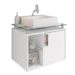 Gabinete Suspenso para Banheiro Porto 57,2x60,2cm Branco - MGM