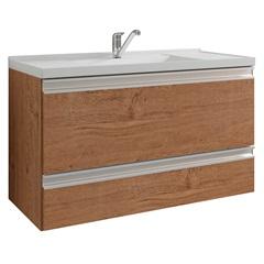 Gabinete Suspenso para Banheiro Treviso 47x79,3cm Amêndoa - MGM