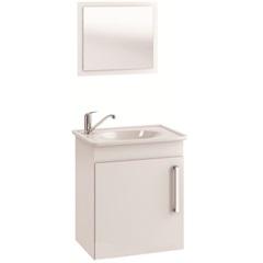 Gabinete Suspenso para Banheiro Viena com Espelho 42x50cm Branco - MGM Móveis