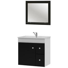 Gabinete Suspenso para Banheiro Vitória com Espelho 56x60cm - MGM Móveis