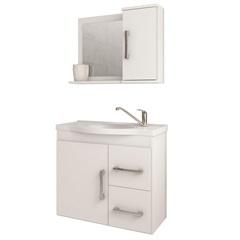 Gabinete Suspenso para Banheiro Vix 56,5x63,5cm Branco - MGM Móveis