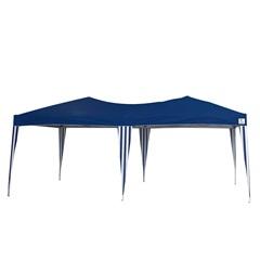 Gazebo Dobrável Oversize em Alumínio com Cobertura em Poliéster 6x3 Metros Azul - Bel Fix