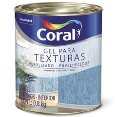 Gel Acrílico Perolizado E Envelhecedor para Texturas 800ml - Coral