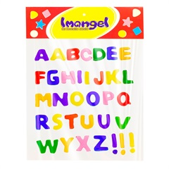 Gel Adesivo Alfabeto Colorido 3x3x5mm - Imangel