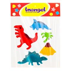 Gel Adesivo Dinossauro Colorido 12x5x5mm - Imangel