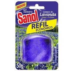 Gel Sanitário Campos de Lavanda Refil Econômico 50g - Total Química