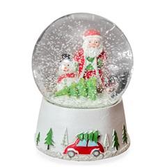 Globo Neve Snow Noel 14x10cm Vermelho E Verde - Casa Etna