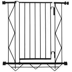 Grade de Porta em Aço 83x70cm Preta