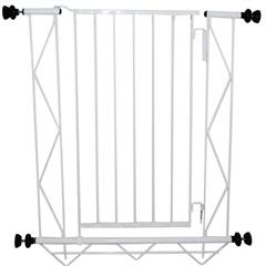 Grade de Porta em Aço com Extensão de 10cm 83x70cm Branca - Alambre