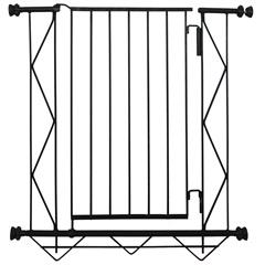 Grade de Porta em Aço com Extensão de 10cm 83x70cm Preta - Alambre