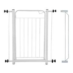 Grade de Proteção em Aço com Porta E Extensor 78x80cm Branca - Maxeb
