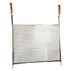 Grelha em Aço Inox para Churrasco Moeda 55x50 - Kala