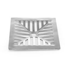 Grelha Fixa Quadrada Côncava 20x20cm Alumínio - Costa Navarro