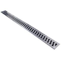 Grelha Fixa Retangular 10x100cm Alumínio - Costa Navarro
