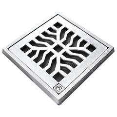 Grelha Quadrada em Alumínio Martelada com Porta Grelha Elegance 30x30cm Cromada - Costa Navarro