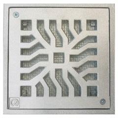 Grelha Quadrada em Alumínio Martelada com Tela Elegance 15x15cm Cinza - Costa Navarro