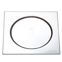 Grelha Quadrada em Inox com Fecho de Pressão 10x10cm Cromado - Meber