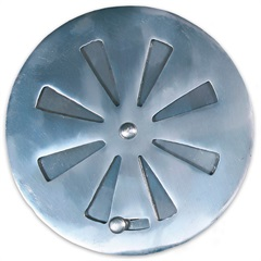Grelha Regulável Redonda para Caixa Sifonada 15cm Alumínio - Costa Navarro