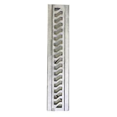 Grelha Retangular em Alumínio Martelada com Porta Grelha para Pedestre Elegance 10x50cm Cromada - Costa Navarro