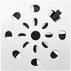 Grelha Rotativa Quadrada 10cm Branca - Astra