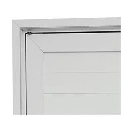 Guarnição para Porta Pivotante Alumifort 216x100cm Branca - Sasazaki