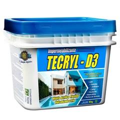 Impermeabilizante Manta Acrílica Flexível Tecryl D3 Branca 18kg - Tecryl Impermeabilizantes