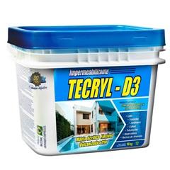 Impermeabilizante Manta Acrílica Flexível Tecryl D3 Cinza 18kg - Tecryl Impermeabilizantes