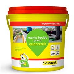 Impermeabilizante Manta Líquida Preta 3,6 Litros - Quartzolit