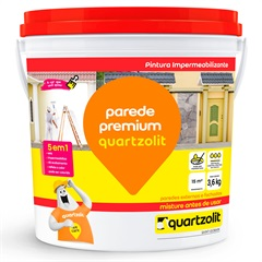 Impermeabilizante Parede Premium Branco 3,6kg - Quartzolit