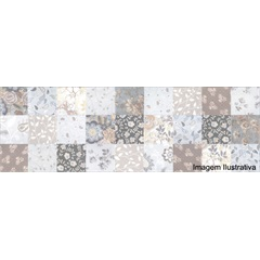 Inserto Acetinado Borda Reta Artwork Multicor 30x90cm - Incepa