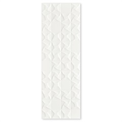 Inserto Acetinado Borda Reta Lumen Blanco 30x90cm - Roca