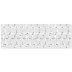Inserto Acetinado Borda Reta Shell White 30x90cm - Roca
