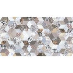 Inserto Esmaltado Brilhante Retificado Geometrie Patch 32x59cm Multicor - Incepa