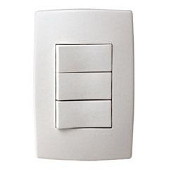 Interruptor Simples E 2 Paralelos com Placa Pialplus Ref. 613104 - Pial Legrand