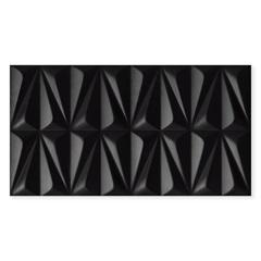 Iserto Acetinado Borda Reta Ludo Black 32x59cm - Incepa