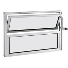 Janela Basculante em Alumínio Alumifort 40x60cm Branca - Sasazaki