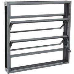 Janela Basculante em Alumínio Silenfort 60x60cm Cinza - Sasazaki