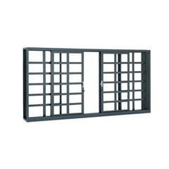 Janela Belfort Grade Quadriculada 100 X 200 Cm - Ref. 6321542-2 - Sasazaki