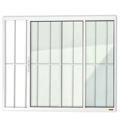 Janela de Correr com 2 Folhas E Grade em Alumínio Confort 100x150cm Branca - Brimak