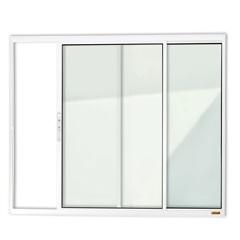 Janela de Correr com 2 Folhas em Alumínio Confort 100x100cm Branca - Brimak
