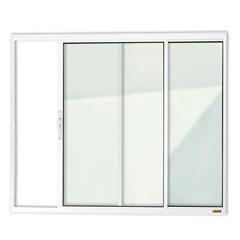 Janela de Correr com 2 Folhas em Alumínio Confort 100x150cm Branca - Brimak