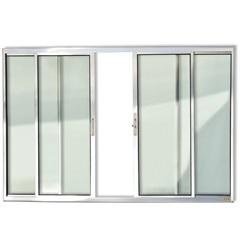 Janela de Correr com 4 Folhas em Alumínio Confort 100x150cm Brilhante - Brimak