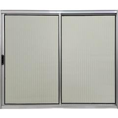 Janela de Correr Lateral com Vidro Liso Plus 100x120cm Cromada - Ebel