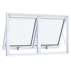 Janela Maxim-Ar Dupla Horizontal em Alumínio sem Grade 60x100cm Branca - Lucasa